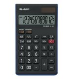 Calculator de birou, 12 digits, 152 x 96 x 12 mm, SHARP EL-124TWH - negru/alb